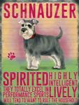 Metal Wall Kitchen Sign Vintage Retro Style Schnauzer Dog Lovers Gift
